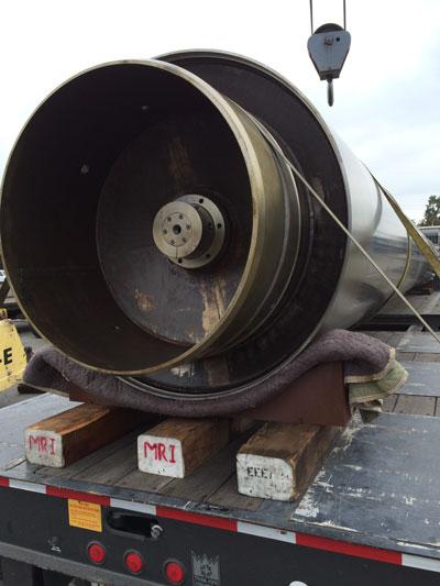 Oil Drilling Equipment arriving for packaging.