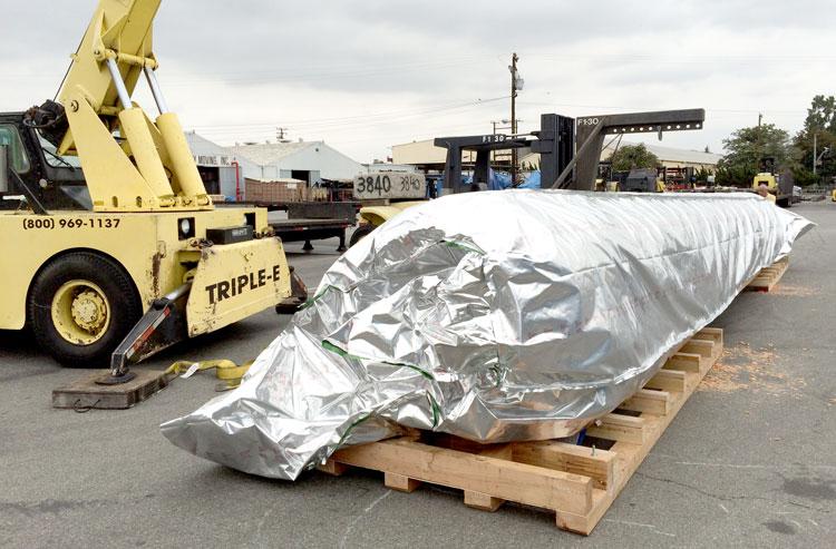 Anti-Rust measures taken for oil drilling equipment shipping