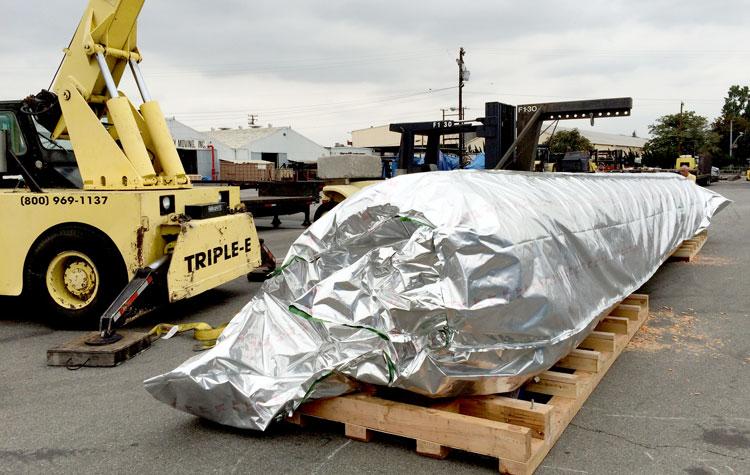 Oil drilling mandrel overseas transport