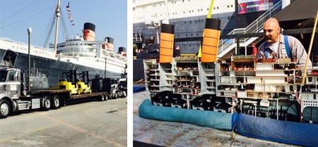Model of the Queen Mary transported to museum.