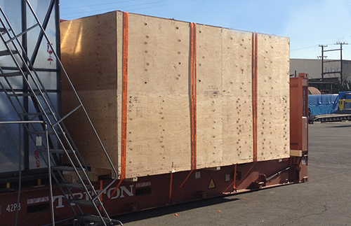 Crate ready for shipment